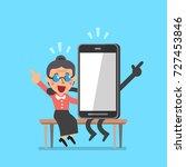 vector cartoon senior woman and ... | Shutterstock .eps vector #727453846