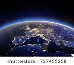 world globe   planet earth. 3d... | Shutterstock . vector #727455358
