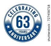 63 years anniversary logo.... | Shutterstock .eps vector #727458718