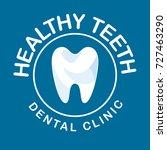 vector logo clinic dentistry... | Shutterstock .eps vector #727463290