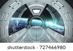 spaceship bright interior with... | Shutterstock . vector #727466980