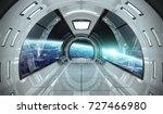 Spaceship Bright Interior With...