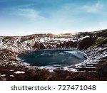 landscape of kerio crater... | Shutterstock . vector #727471048