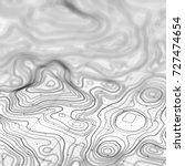 3d topographic map background... | Shutterstock . vector #727474654