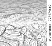 3d topographic map background... | Shutterstock . vector #727474660