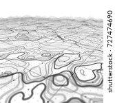 3d topographic map background... | Shutterstock . vector #727474690
