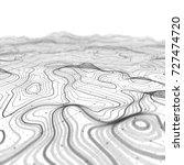 3d topographic map background... | Shutterstock . vector #727474720