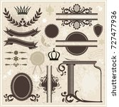 collection of design elements... | Shutterstock .eps vector #727477936