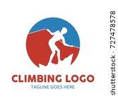 climbing illustration logo