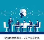corporate business people... | Shutterstock .eps vector #727483546