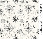 seamless pattern with vintage... | Shutterstock .eps vector #727488814