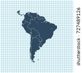 map of south america   Shutterstock .eps vector #727489126