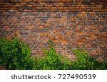 vintage red brick wall... | Shutterstock . vector #727490539