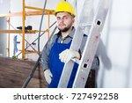 portrait of smiling workman...   Shutterstock . vector #727492258