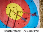 Arrows in archery target on...