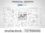 financial growth concept with... | Shutterstock . vector #727500430