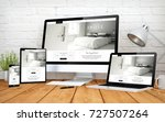 3d rendering with multidevices... | Shutterstock . vector #727507264