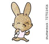cartoon running rabbit | Shutterstock .eps vector #727511416
