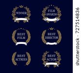 film awards and best nominee... | Shutterstock .eps vector #727514836