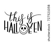 this is halloween with ghost on ... | Shutterstock .eps vector #727521058