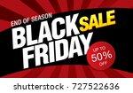 black friday sale banner layout ... | Shutterstock .eps vector #727522636