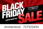 black friday sale banner layout ... | Shutterstock .eps vector #727522654