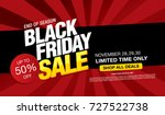 black friday sale banner layout ... | Shutterstock .eps vector #727522738