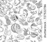 tropical fruits as seamless... | Shutterstock .eps vector #727522786