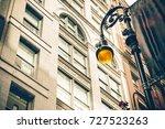 vintage style illuminated... | Shutterstock . vector #727523263