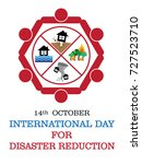 international day for disaster... | Shutterstock .eps vector #727523710