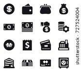 16 vector icon set   dollar ... | Shutterstock .eps vector #727524004