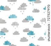 seamless vector watercolor...   Shutterstock .eps vector #727527970