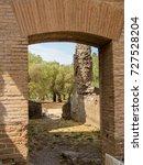 Small photo of Ancient Roman arch in Villa Adriana, Tivoli, Italy