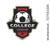 college league  soccer logo. | Shutterstock .eps vector #727531330