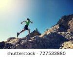 woman trail runner running at... | Shutterstock . vector #727533880