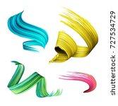 3d render  abstract brush...   Shutterstock . vector #727534729