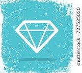 diamond icon logo on grunge... | Shutterstock . vector #727535020