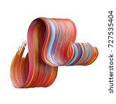 3d render  abstract brush... | Shutterstock . vector #727535404