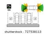 parking assist system vector... | Shutterstock .eps vector #727538113