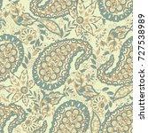 damask paisley seamless vector... | Shutterstock .eps vector #727538989