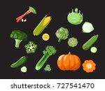vector set  of different...   Shutterstock .eps vector #727541470