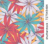 floral seamless pattern with... | Shutterstock .eps vector #727545484