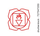 symbols of the first red chakra | Shutterstock .eps vector #727547350