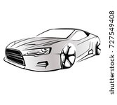 sport car. modern car on a... | Shutterstock .eps vector #727549408
