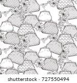 vintage handbag  clutches... | Shutterstock .eps vector #727550494
