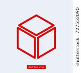 cube icon vector illustration....
