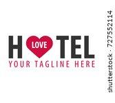 hostel logo. hotel logo. travel ... | Shutterstock .eps vector #727552114