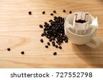 drip coffee cup with coffee... | Shutterstock . vector #727552798