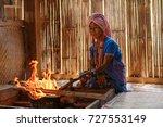 Old Female Karen Hill Tribe Is...