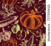 decorative seamless pattern...   Shutterstock .eps vector #727553410